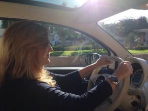 Selfa en su coche